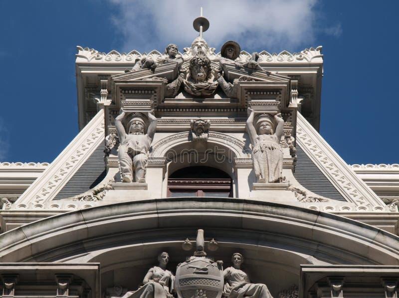 市政厅费城塔 图库摄影