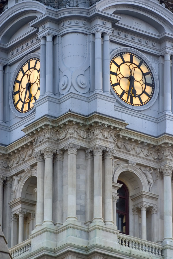 市政厅费城 库存照片
