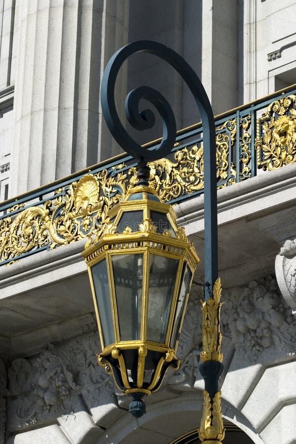 市政厅闪亮指示 免版税库存图片