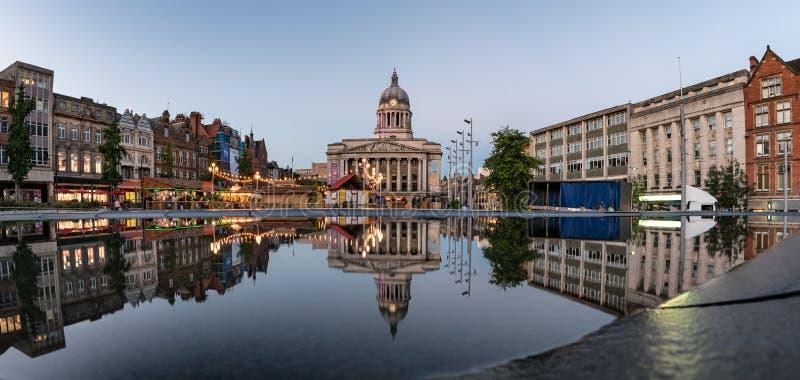 市政厅,老集市广场,诺丁汉,英国,英国 免版税库存图片