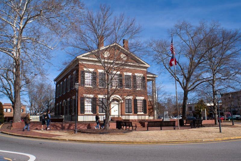 市政厅dahlonega金lumpkin博物馆 库存照片