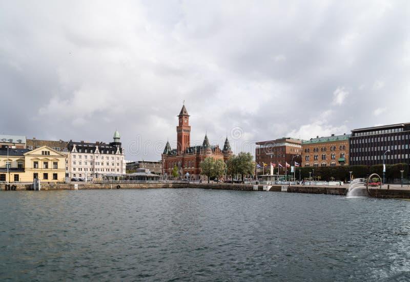 市政厅helsingborg瑞典 库存图片