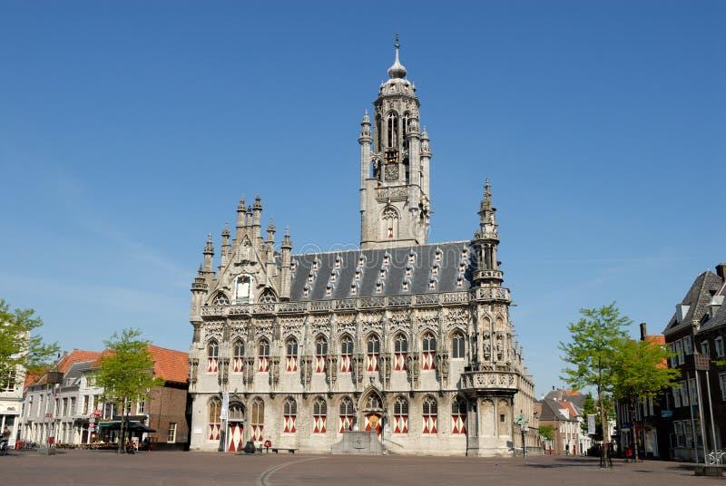 市政厅middelburg 库存照片