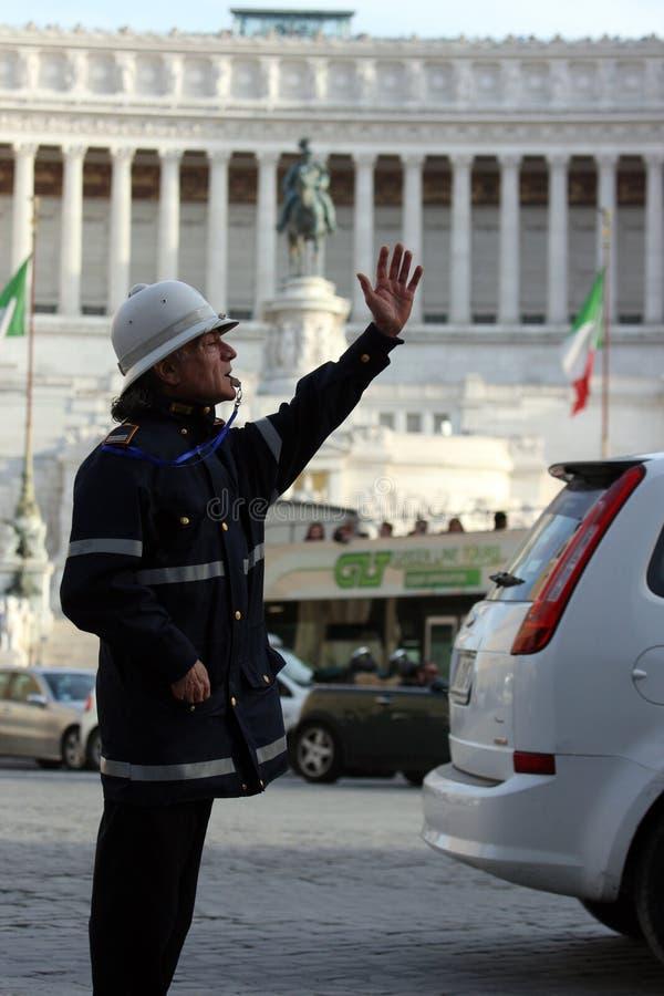 市政警察在罗马(罗马-意大利) 免版税图库摄影