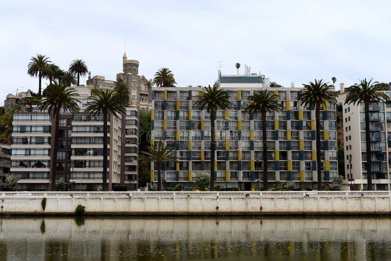 市比尼亚德尔马,同形的自治市的管理中心,一部分的瓦尔帕莱索省  库存图片