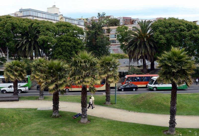 市比尼亚德尔马,同形的自治市的管理中心,一部分的瓦尔帕莱索省  库存照片