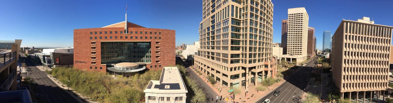 市法院和香港大会堂,菲尼斯, AZ 免版税库存照片