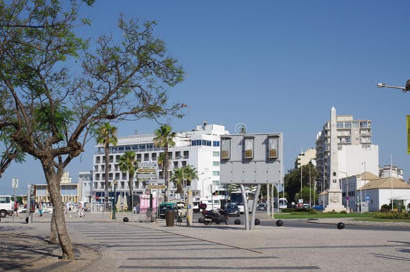 市法鲁在阿尔加威海岸的葡萄牙 库存图片