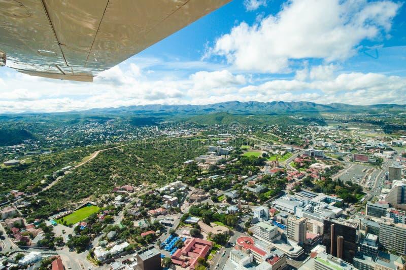 市温得和克,纳米比亚,鸟瞰图温得和克 库存照片