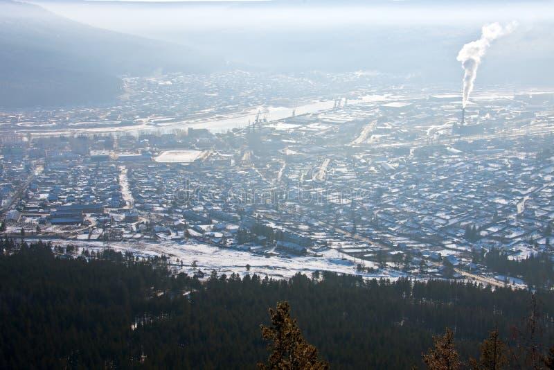 市的中央部分的看法Ust库特 库存图片