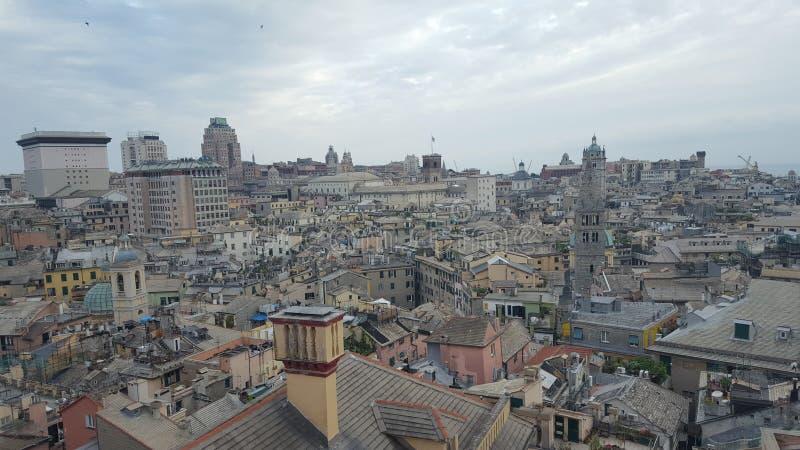 市的全景热那亚 库存照片