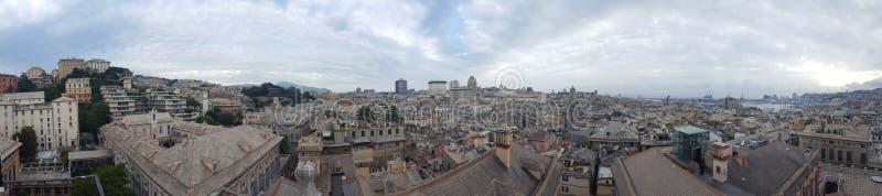 市的全景热那亚 库存图片