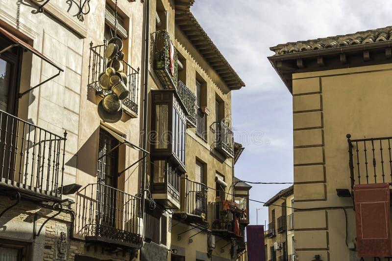 市的典型的街道托莱多 西班牙 库存图片