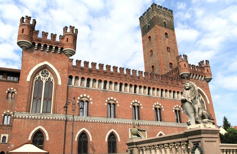 市的历史的中心阿斯蒂,意大利 免版税图库摄影