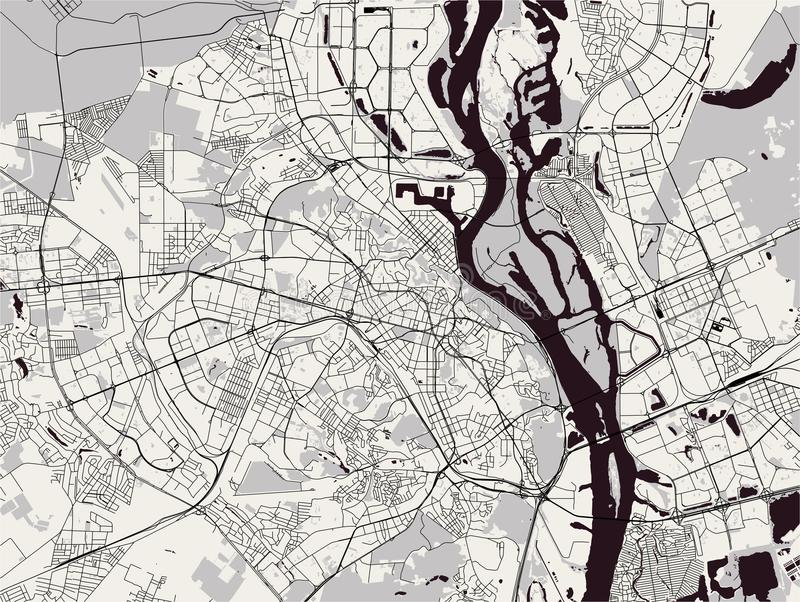 市的地图基辅,乌克兰 皇族释放例证