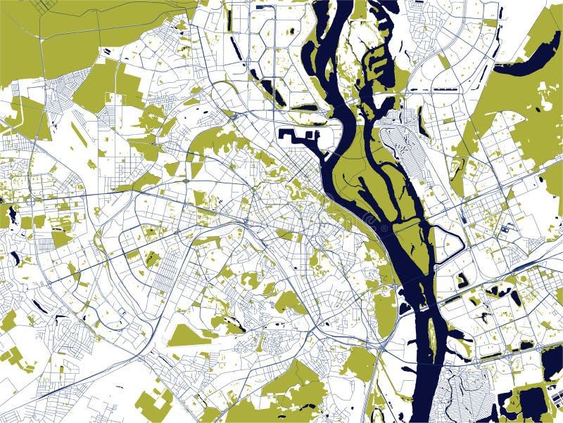 市的地图基辅,乌克兰 向量例证