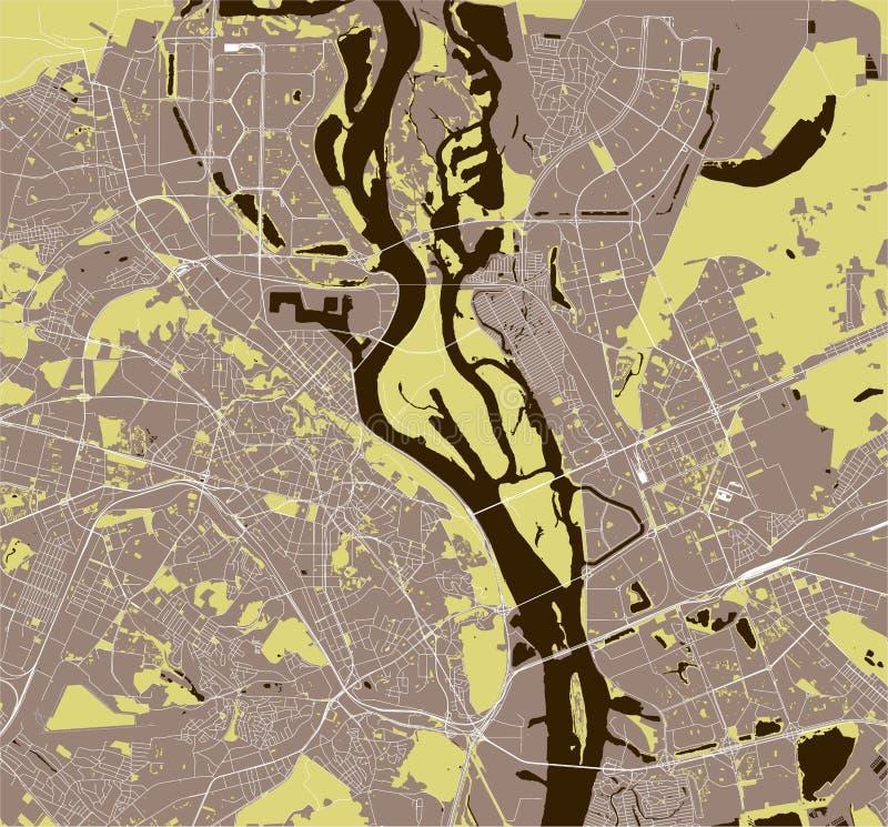 市的地图基辅,乌克兰 库存例证