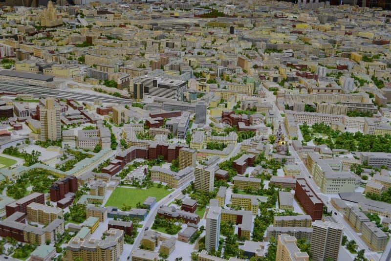 市的布局莫斯科 库存图片