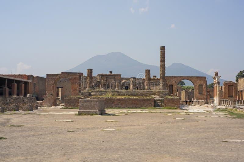 市的废墟庞贝城 意大利 免版税库存照片
