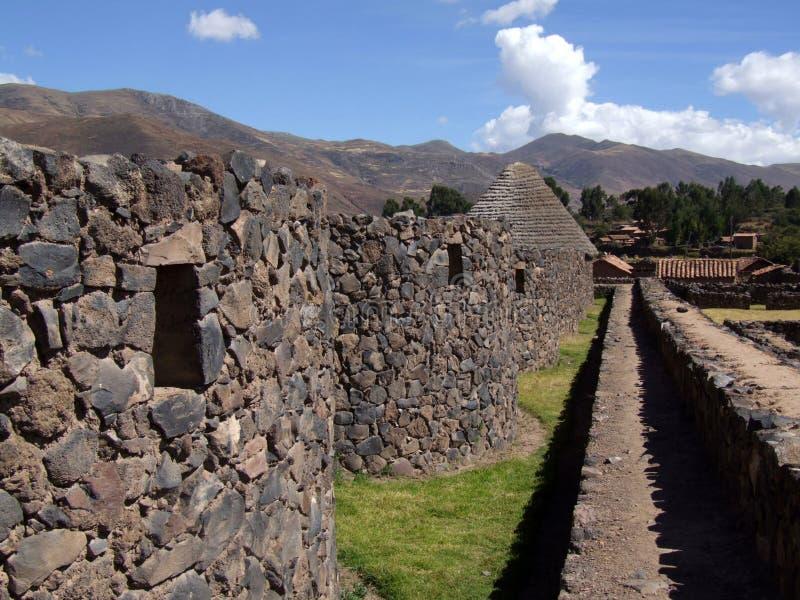 市的废墟Raqchi 免版税库存照片