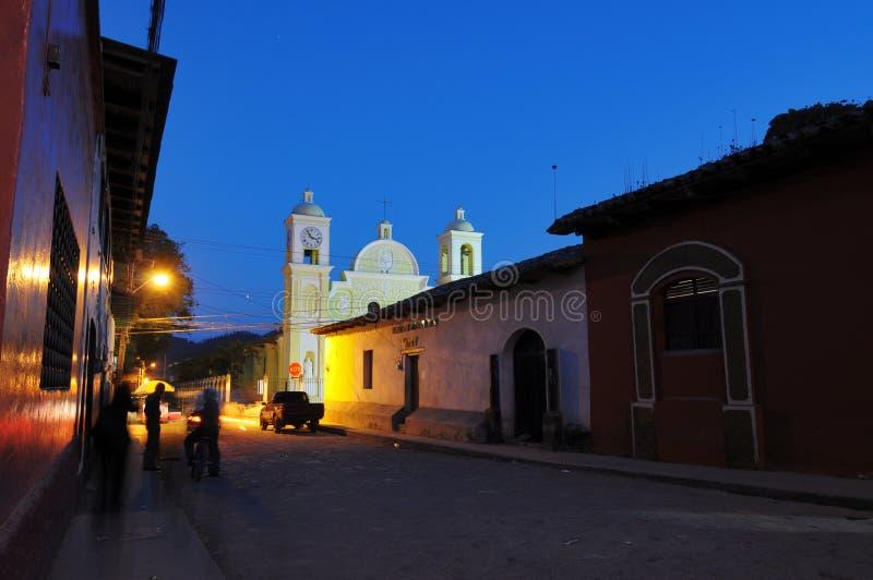 市的教区教会Gracias 免版税库存图片