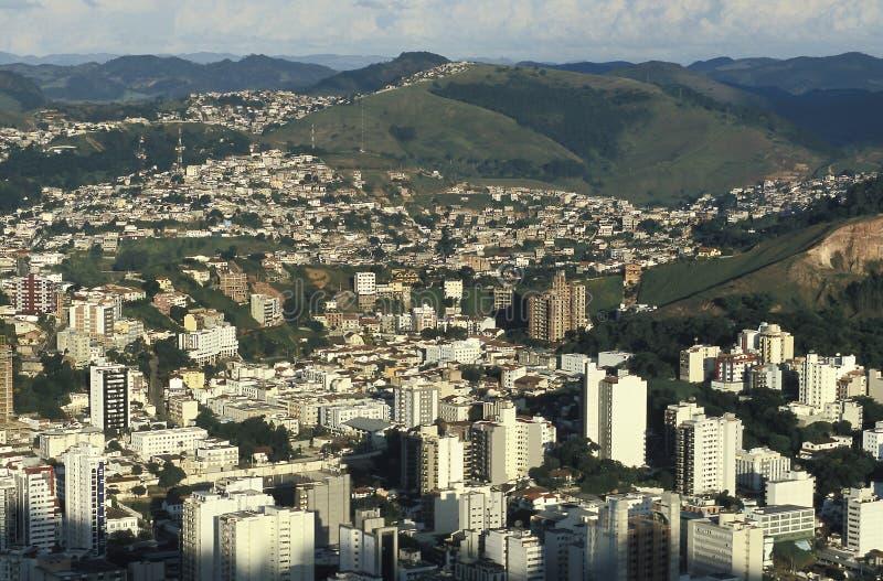 市的看法茹伊斯迪福拉,米纳斯吉拉斯州,巴西 库存照片