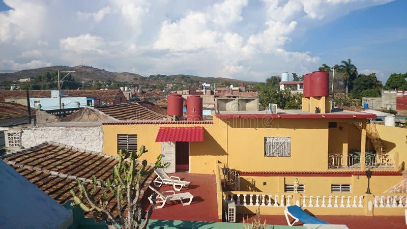 市的看法西恩富戈斯,古巴 库存照片