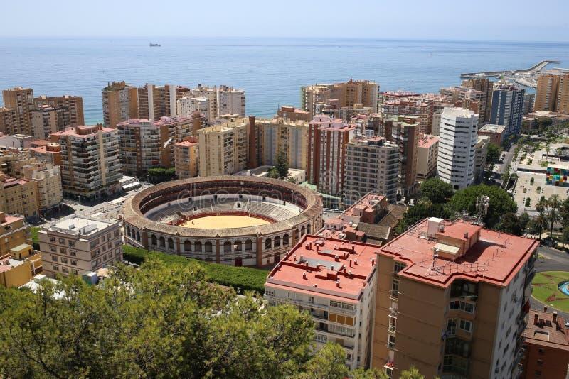 市的看法马拉加在安大路西亚西班牙 免版税库存照片