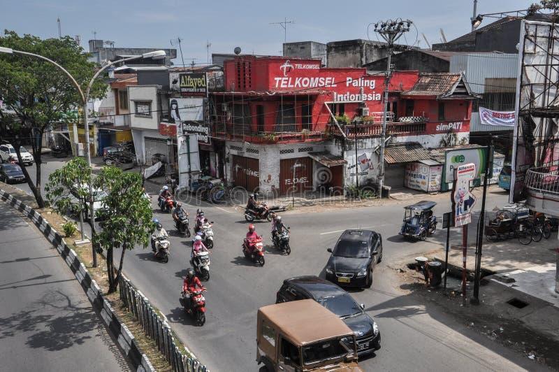 市的街市望加锡,印度尼西亚 免版税库存照片