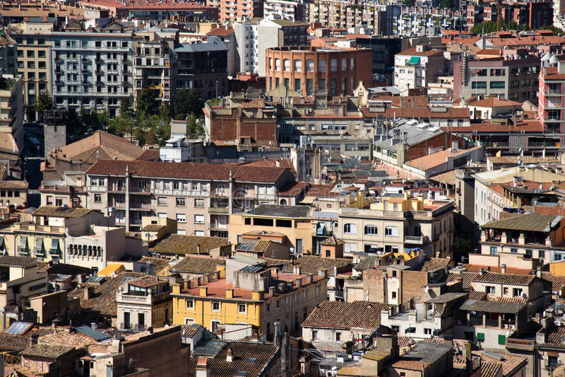 市的议院希罗纳,西班牙 免版税库存图片