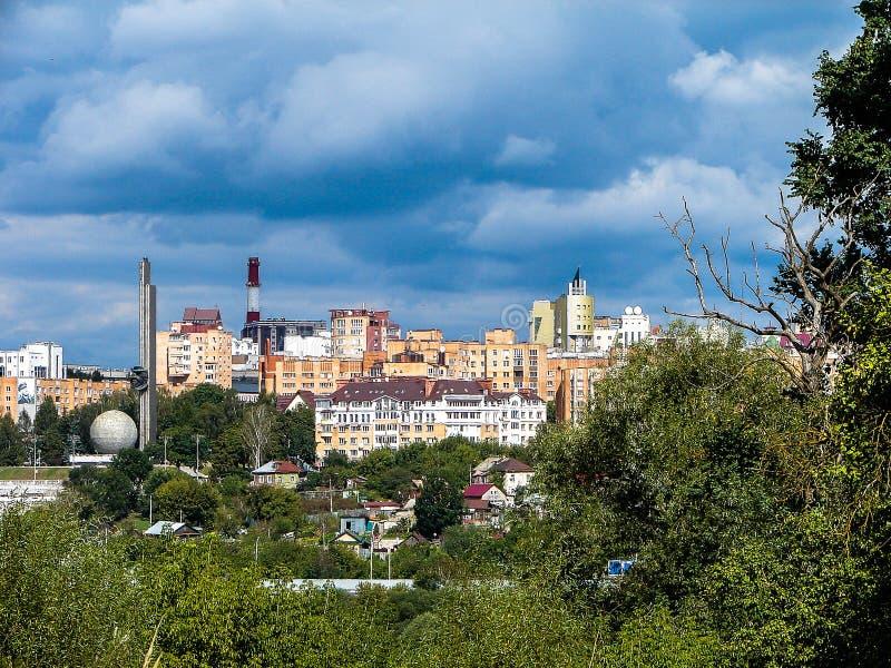 市的风景卡卢加州在俄罗斯 免版税库存照片