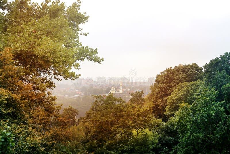 市的风景卡卢加州 免版税库存照片