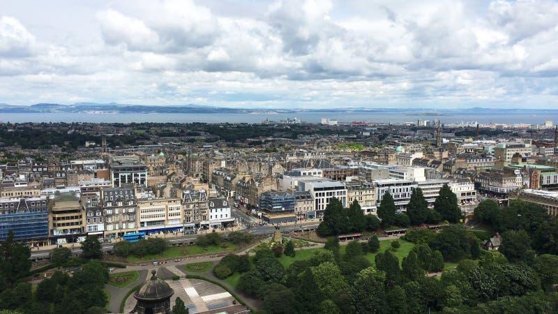 市的鸟瞰图爱丁堡,苏格兰 免版税库存照片