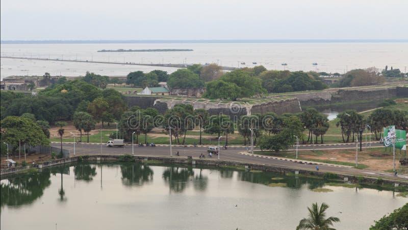 市的鸟瞰图贾夫纳-斯里兰卡 库存图片