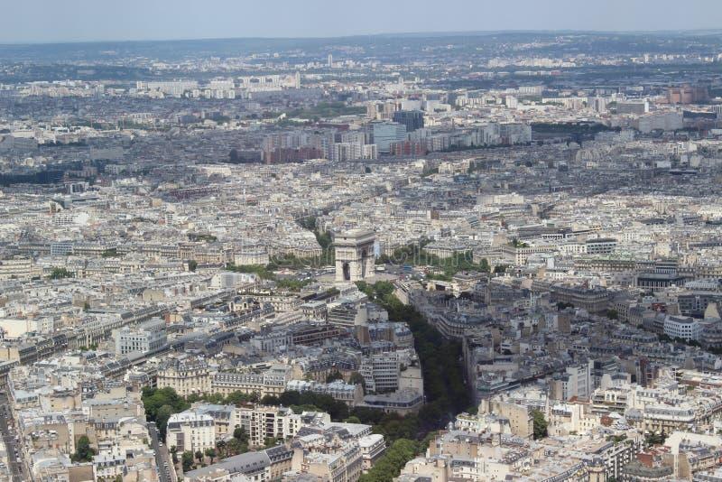 巴黎市视图 免版税图库摄影
