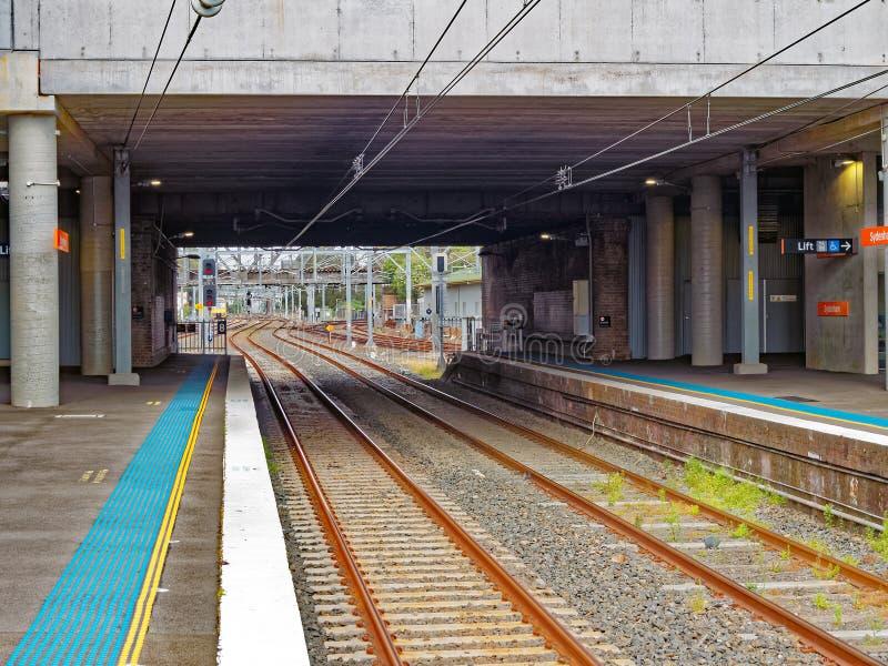 市郊火车驻地,悉尼,澳大利亚 库存图片