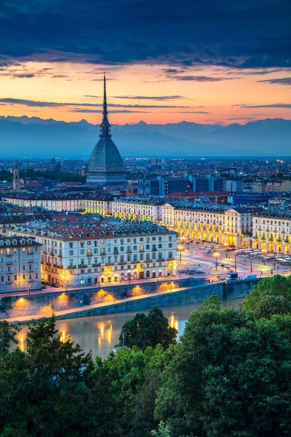 市都灵,意大利 免版税库存照片