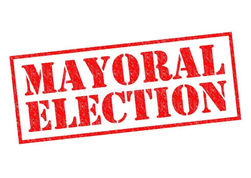 市长的竞选 免版税库存图片