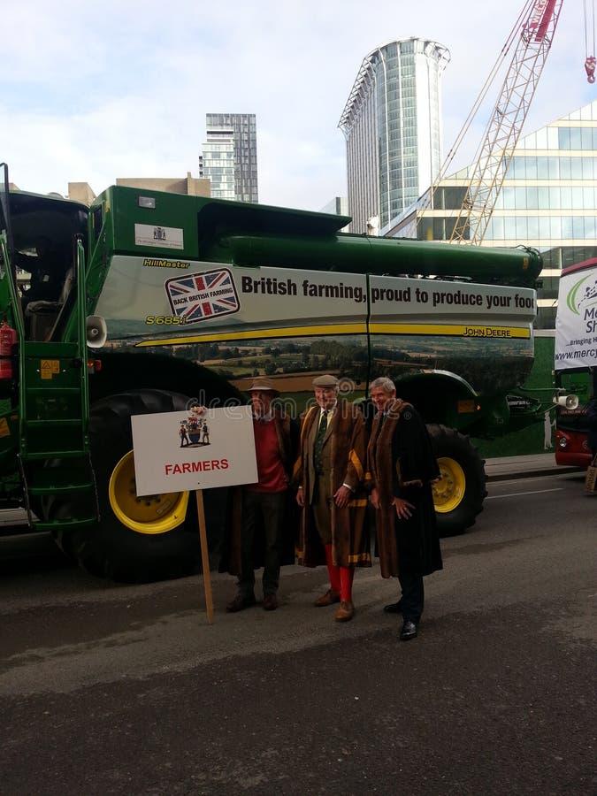 市长阁下展示 农夫的代表2014年 伦敦 免版税库存图片