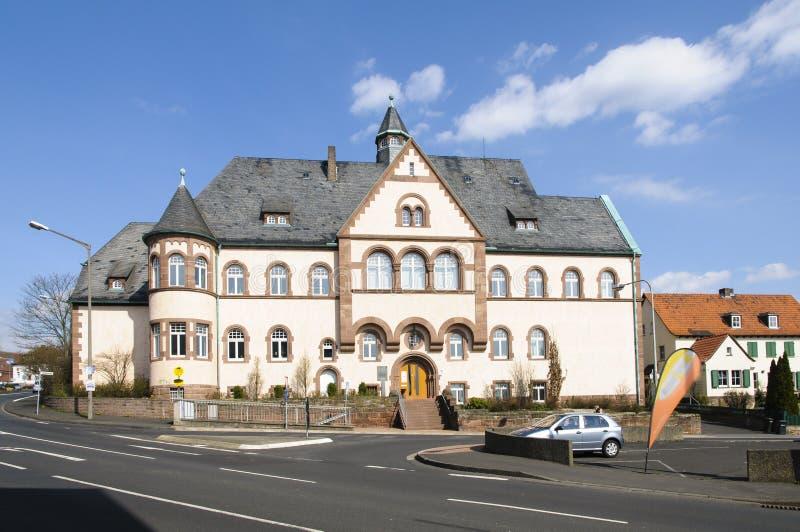 市Fritzlar,地方法院 免版税库存图片