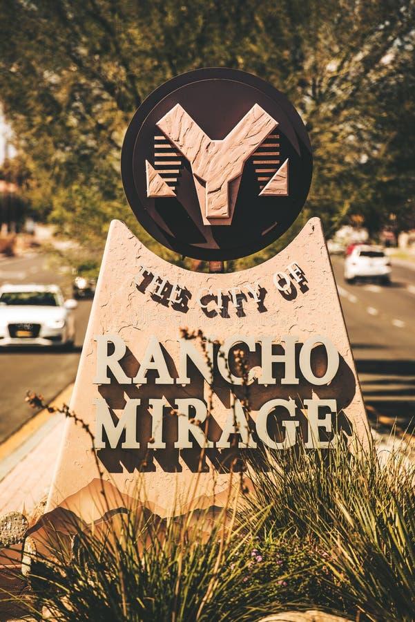 市Rancho Mirage 库存照片