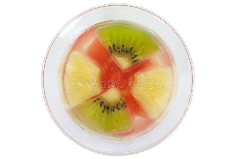 布丁水果沙拉 库存图片