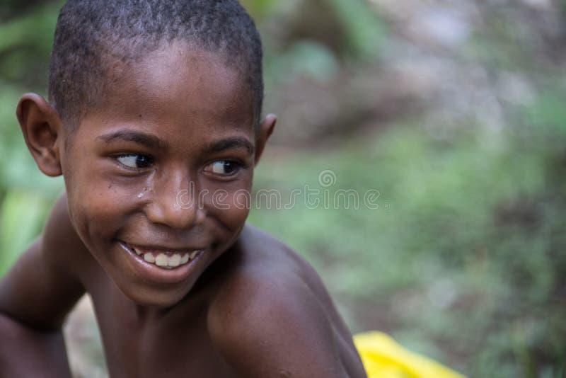 巴布亚新几内亚的微笑 库存照片
