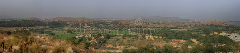 布什全景干燥丛林在印度 库存照片