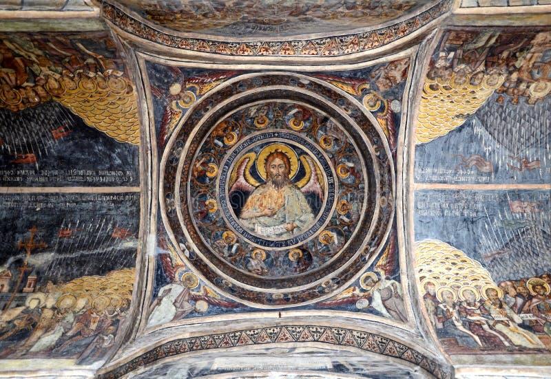 布加勒斯特修道院stavropoleos 库存照片