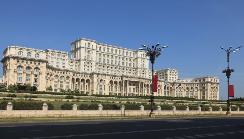 布加勒斯特宫殿议会罗马尼亚 免版税库存图片