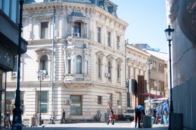 布加勒斯特市中心午间 免版税库存图片