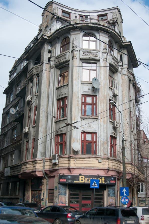 布加勒斯特老大厦 库存图片