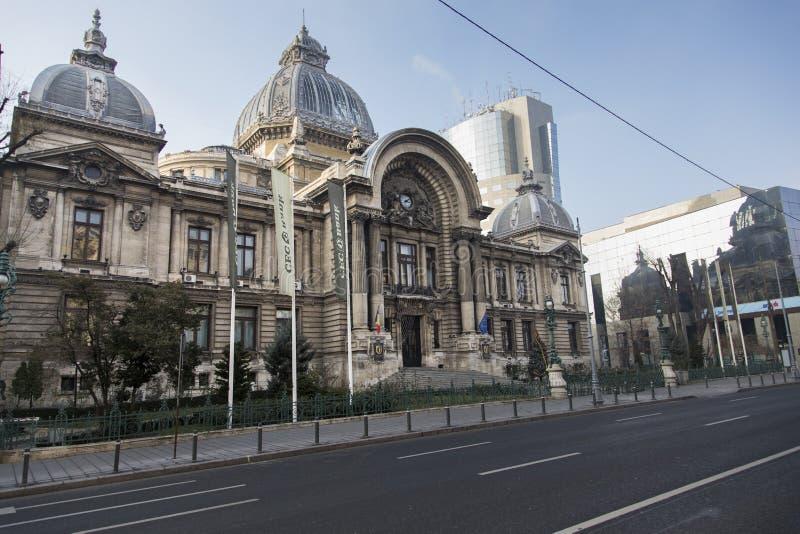 布加勒斯特老大厦CEC 图库摄影