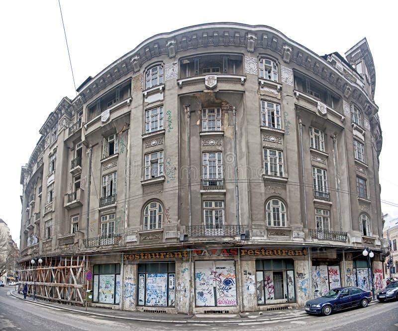 布加勒斯特老大厦Palas餐馆 免版税库存图片